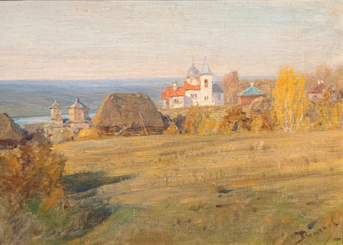 Vasily Polenov. Church in Biechow