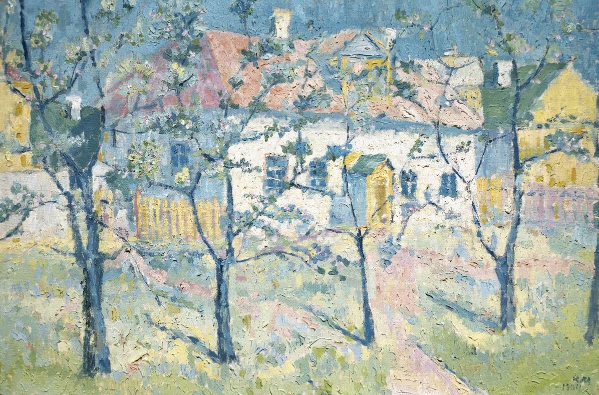 Kazimir Malevich. Spring garden in bloom