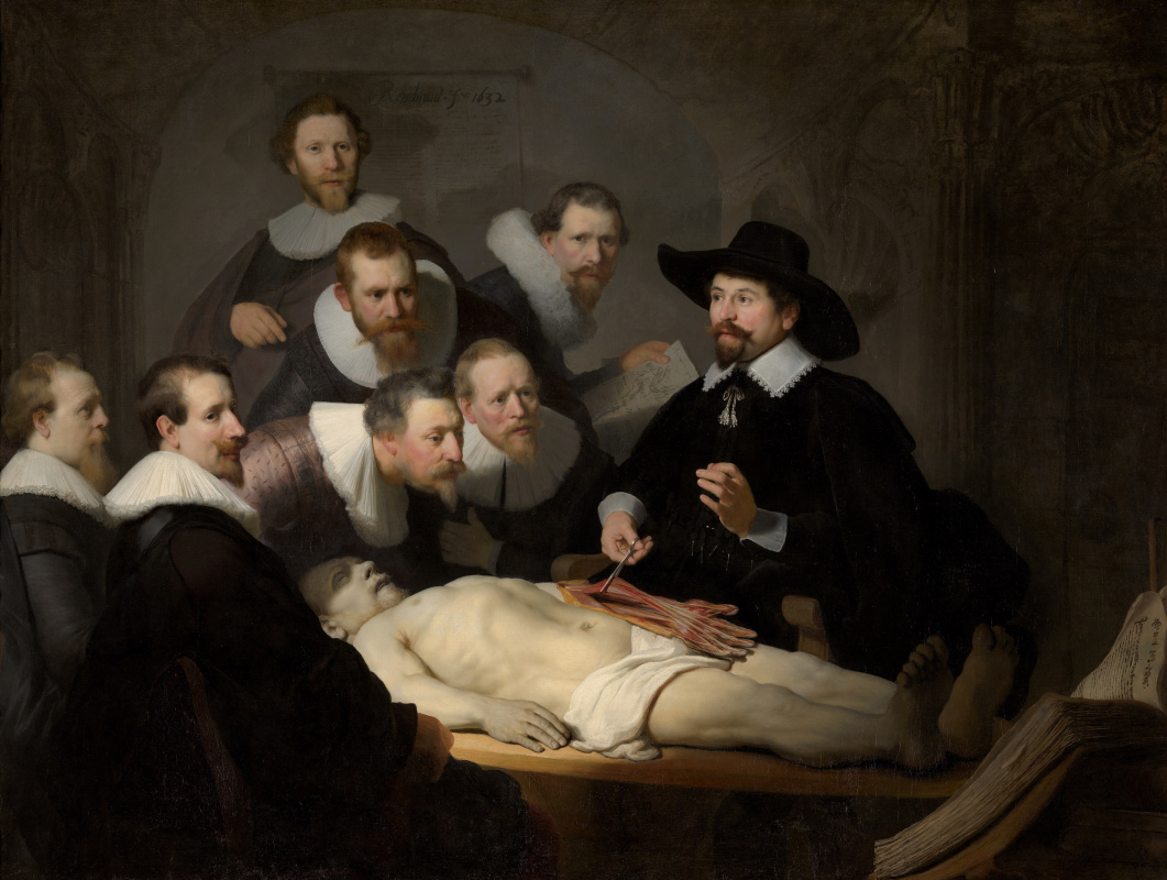 Rembrandt Harmenszoon van Rijn. The Anatomy Lesson of Dr Nicolaes Tulp
