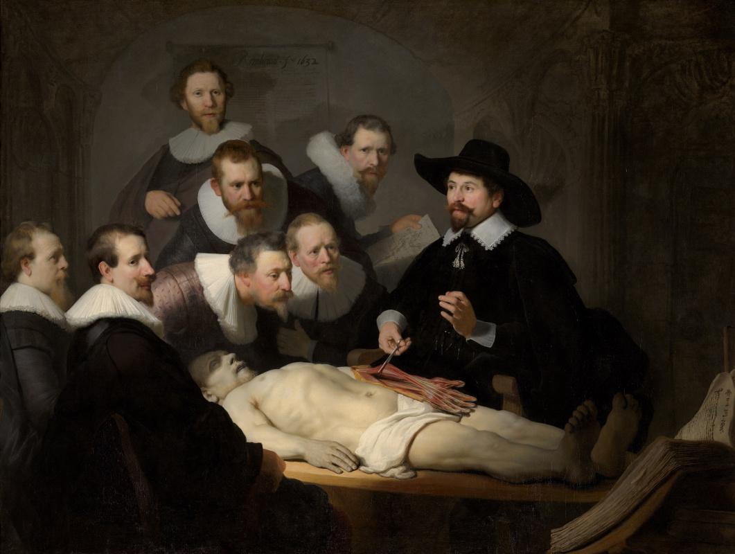 Rembrandt Harmenszoon van Rijn. Anatomy lesson Dr. Tulpa