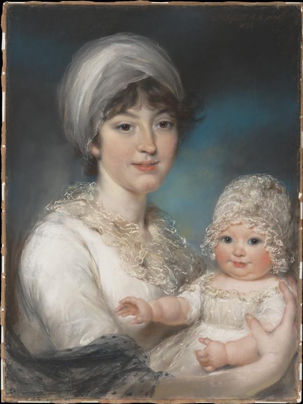 Госпожа Роберт Шерлок  и ее дочь Энн