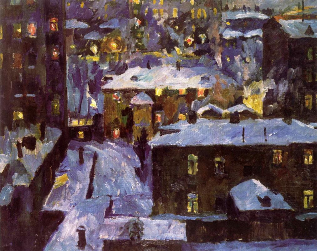 Aristarkh Lentulov. Night at Patriarshiye ponds