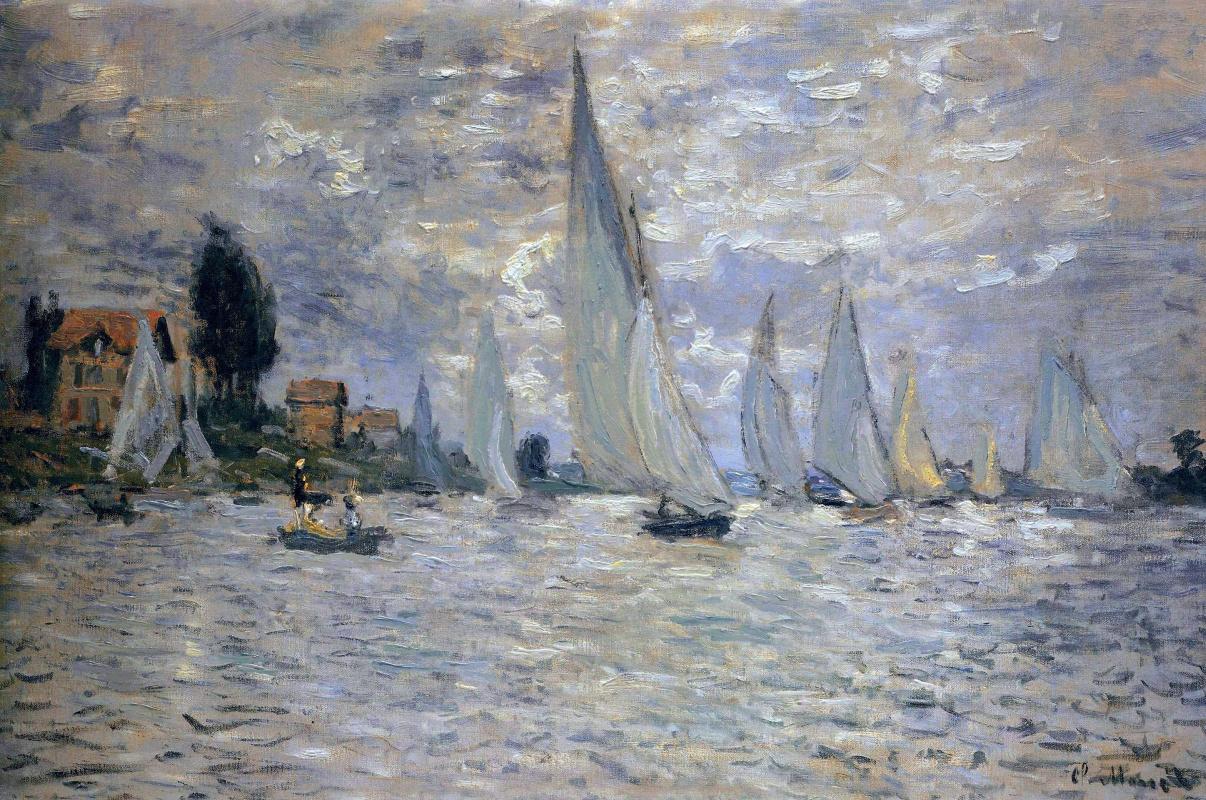 Claude Monet. Regatta at Argenteuil