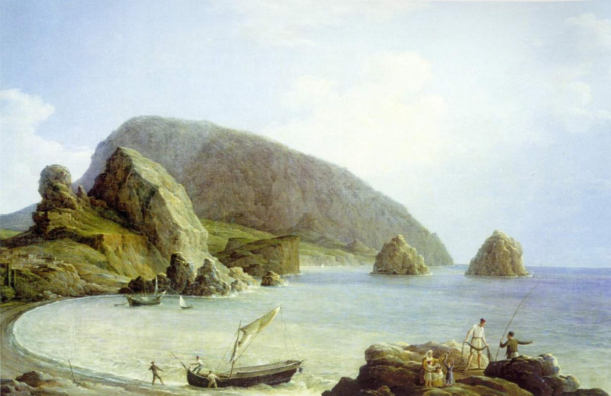Никанор Григорьевич Чернецов. Вид на Аю-Даг в Крыму со стороны моря