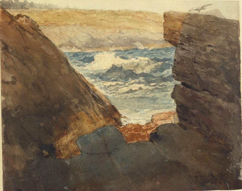 Winslow Homer. View through the rocks
