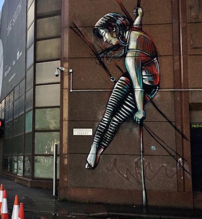 Alice Pascini. Mural in Belfast