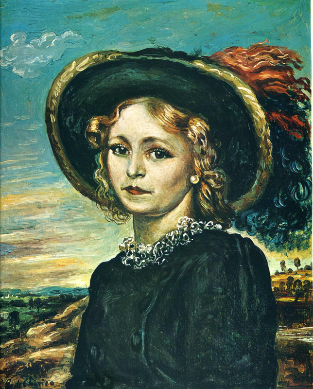 Джорджо де Кирико. Девушка в черной шляпе