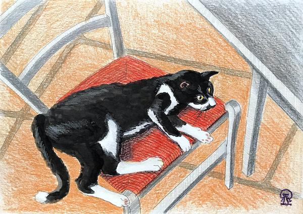 Larissa Lukaneva. Cypriot cat. Sketch.