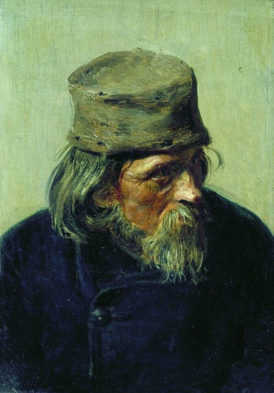 Илья Ефимович Репин. Продавец ученических работ в Академии художеств