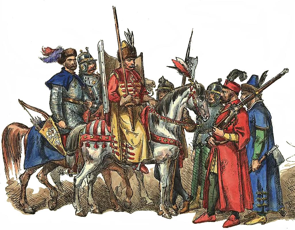 """Ян Матейко. Польско-литовская армия 1576 - 1586. """"Польская одежда, 1200 - 1795 г.г."""""""