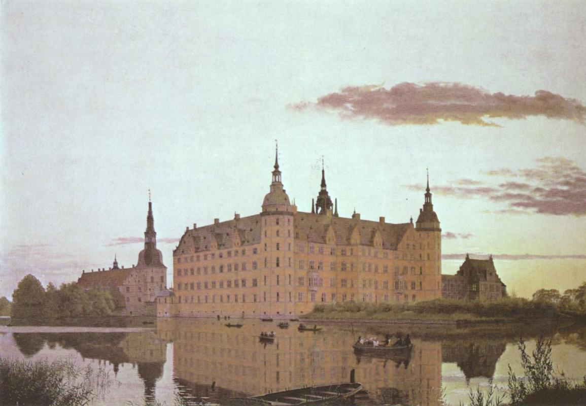 Кристен Кёбке. Замок Фредериксборг в вечернем свете