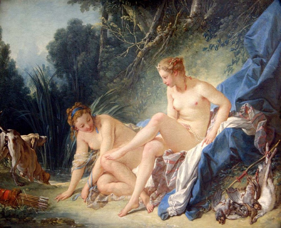 Roxana Golubeva. Francois Boucher - Bathing Diana