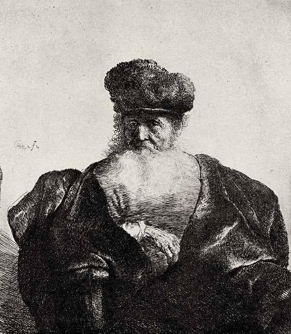 Рембрандт Харменс ван Рейн. Портрет старика в широком бархатном плаще