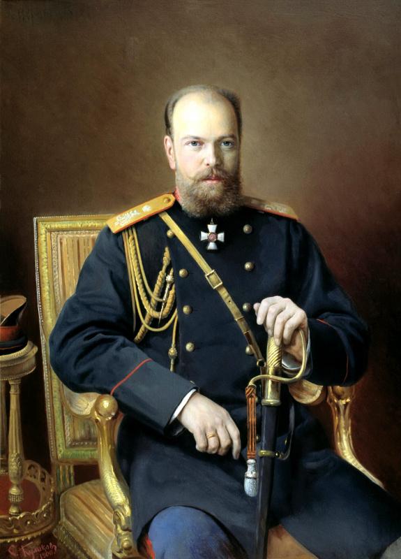Иван Семенович Куликов. Портрет Александра III