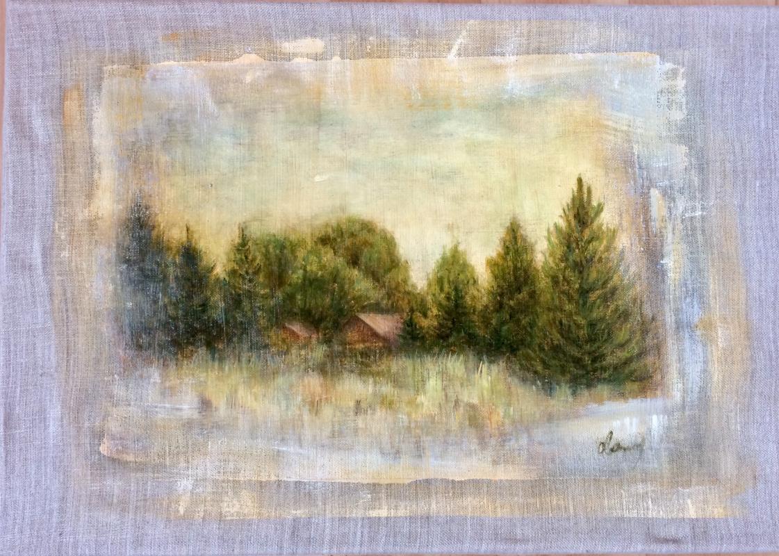 Оксана Викторовна Соколова. Sosnovka-1. Canvas, oil. 40x50, 2019