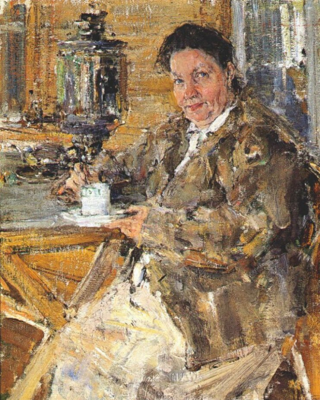 Nikolay Ivanovich Feshin. The artist's mother Praskovia Feshina