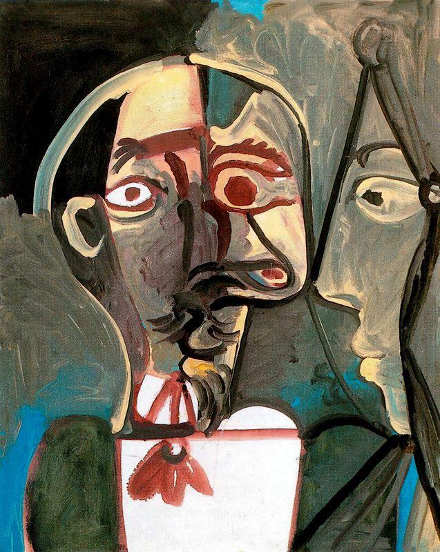 Пабло Пикассо. Бюст мужчины и профиль женщины