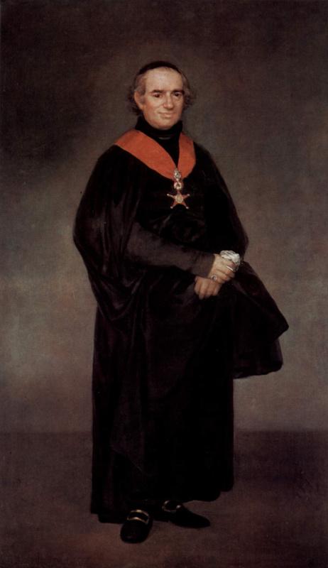 Франсиско Гойя. Портрет Хуана Антонио Льоренте
