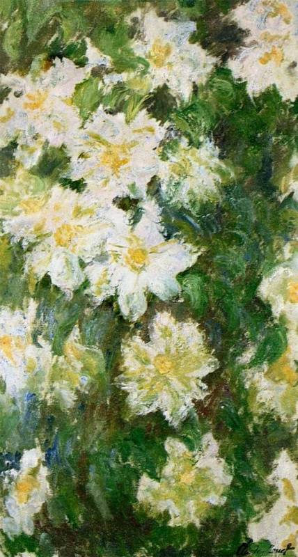 Claude Monet. White clematis