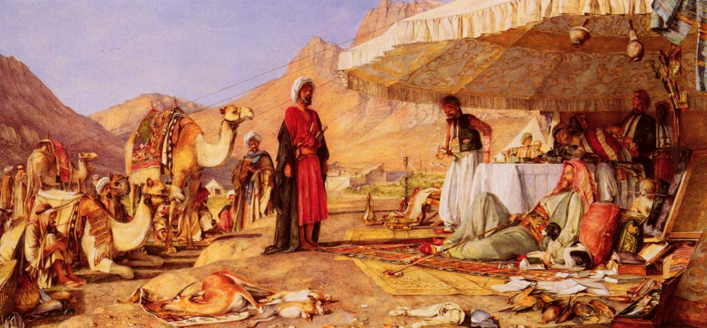 John Frederick Lewis. Camp Frank in the desert of mount Sinai
