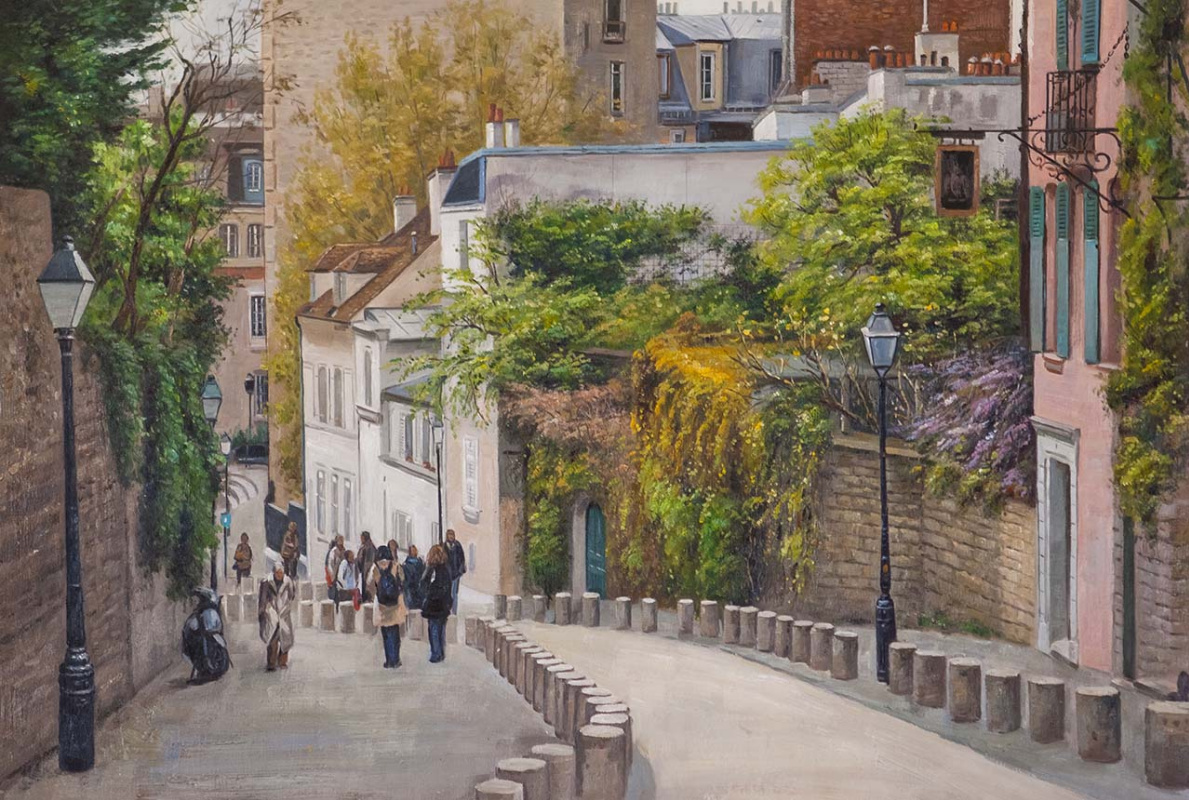 Savely Kamsky. Paris. Stroll. Montmartre