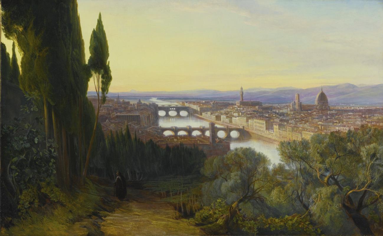 Эдвард Лир. Вид на Флоренцию из Сан-Миниато