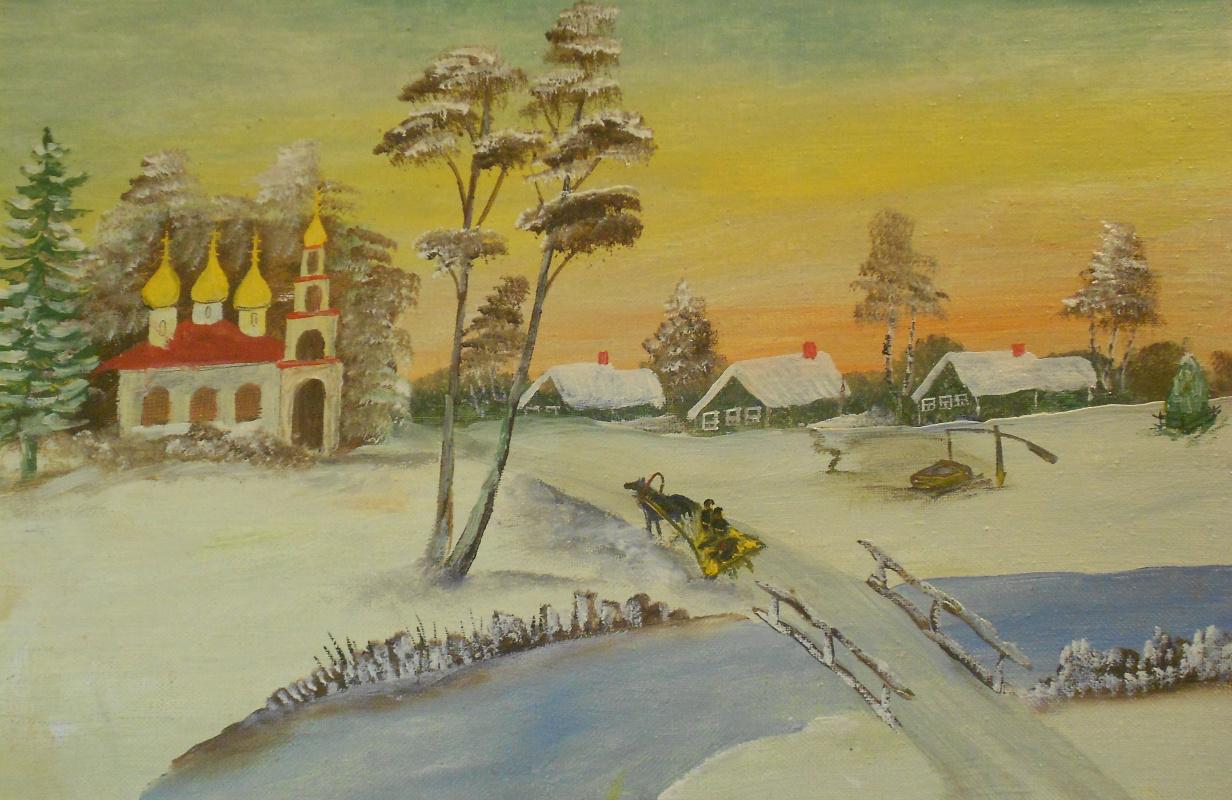 Vasily Vasilyevich Grigoryev. Winter evening