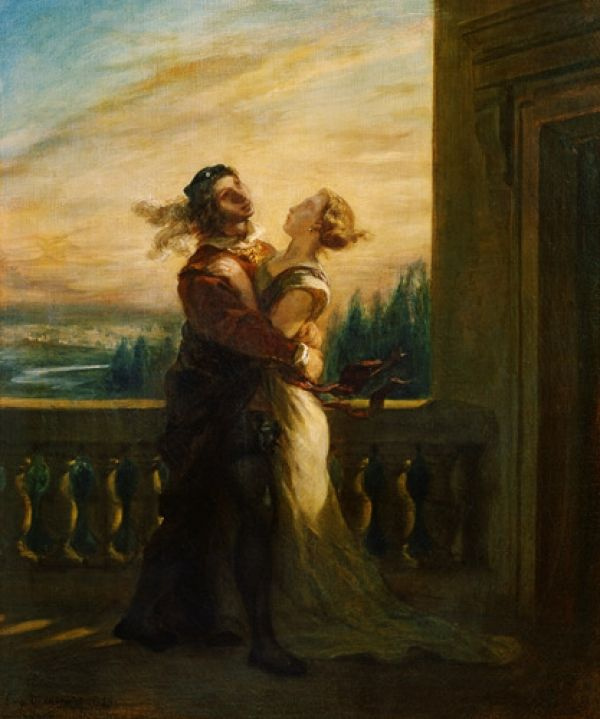 Eugene Delacroix. The farewell of Romeo and Juliet