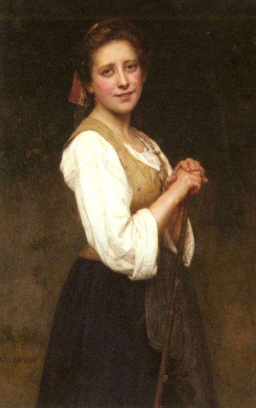 Эжен-Мари Салансон. Молодая пастушка