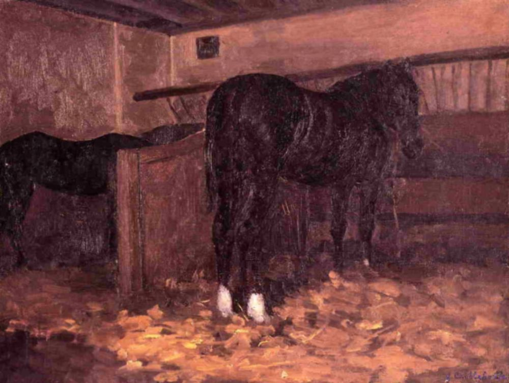 Gustave Caillebotte. The horse in the stall