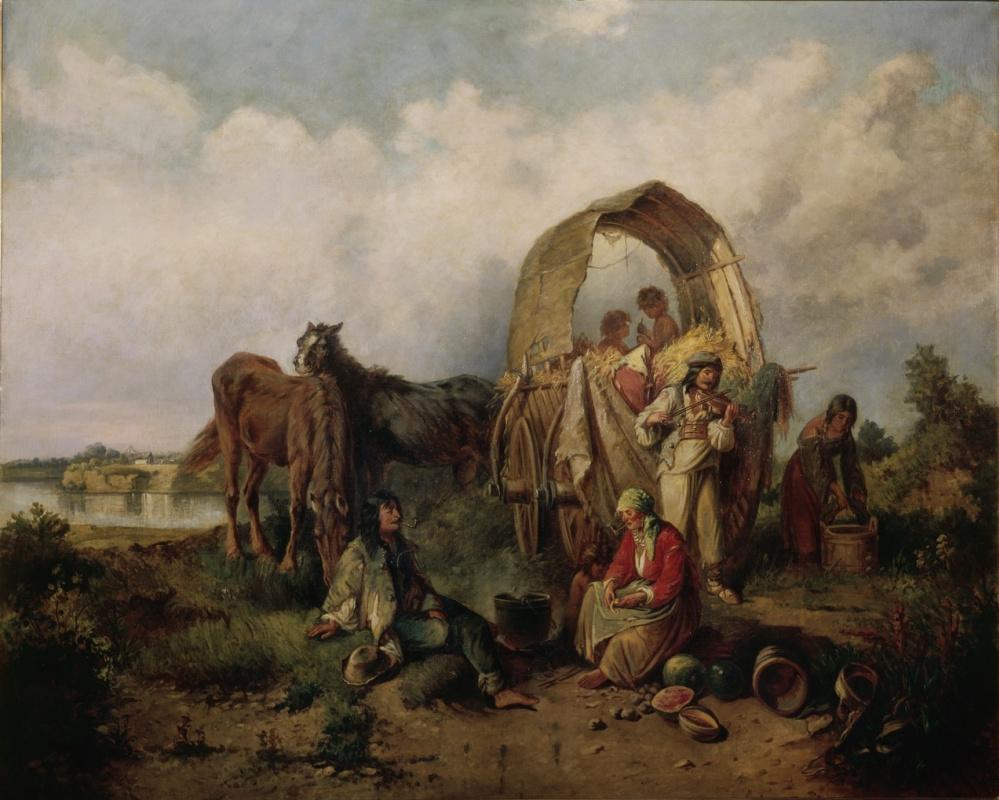 Михай Либ Мункачи. Цыганская семья