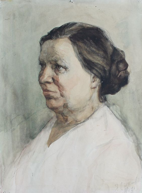 Eugene Nikolaevich Tihanovich. Portrait of a Woman