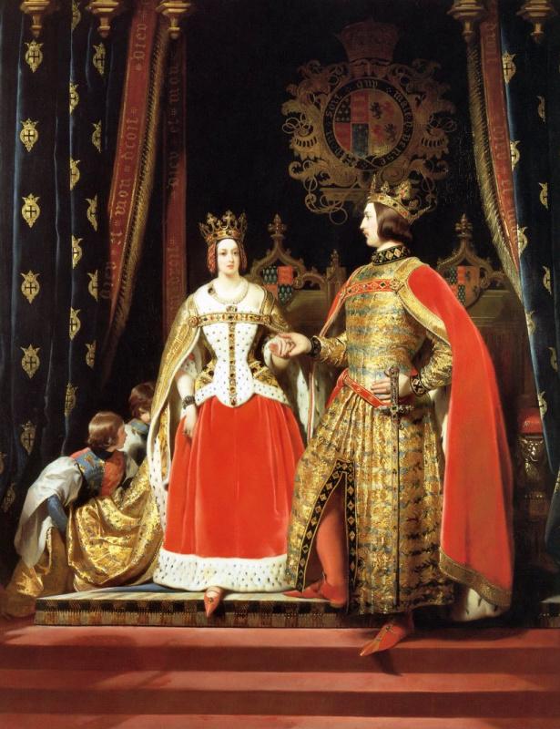 Эдвин Генри Ландсир. Королева Виктория и принц Альберт