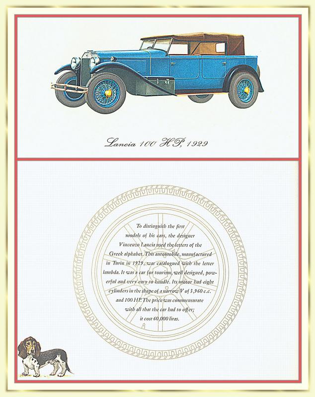 Лионель Моррис. Серия ретро-автомобили. 1929 Лянча Дилямбда