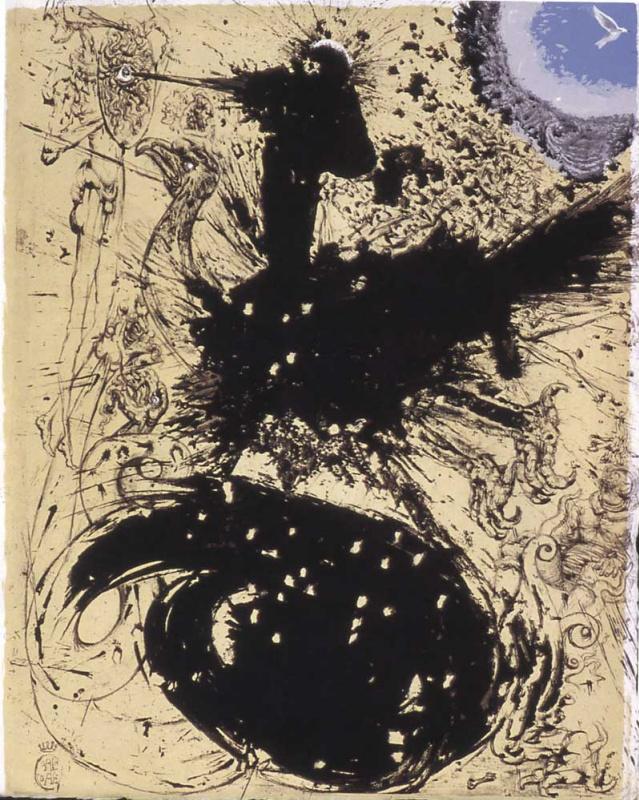 """Salvador Dali. Visions of don Quixote (illustration for the novel """"don Quixote"""")"""