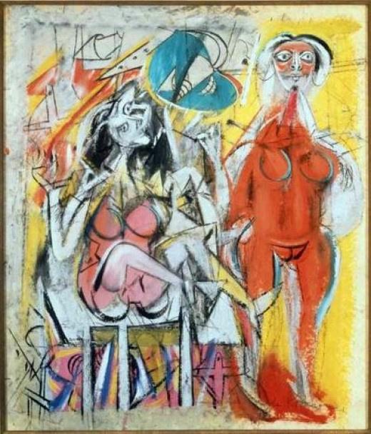 Willem de Kuning. Untitled (Two women)