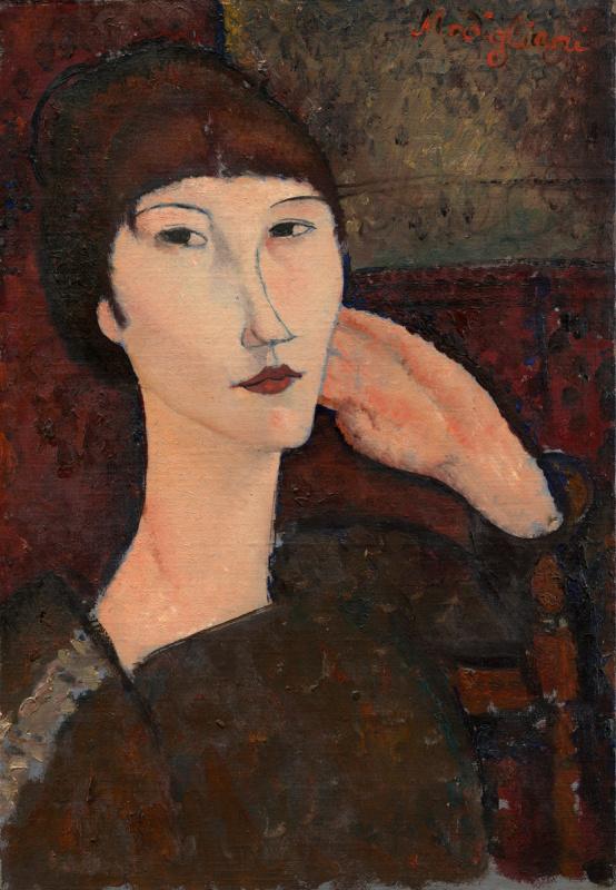 Адриенна. Портрет женщины с челкой