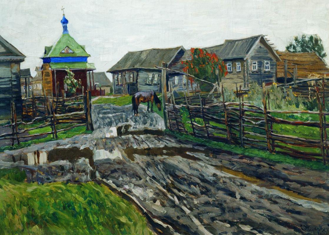 Stanislav Yulianovich Zhukovsky. The old village