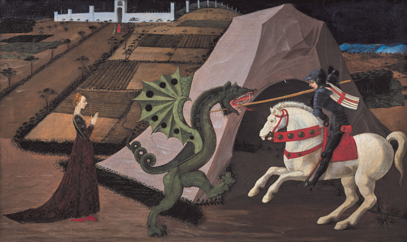 Paolo Uccello. St. George slaying the dragon