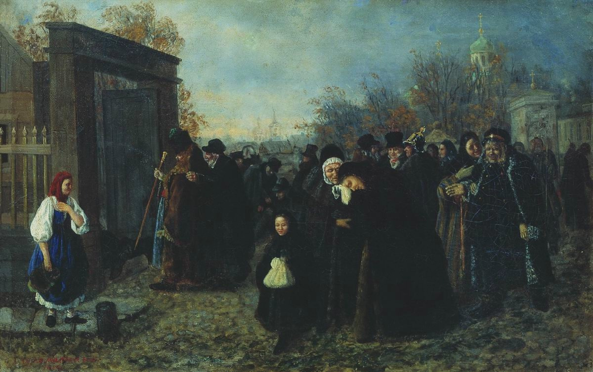 Leonid Ivanovich Solomatkin. Return from the funeral