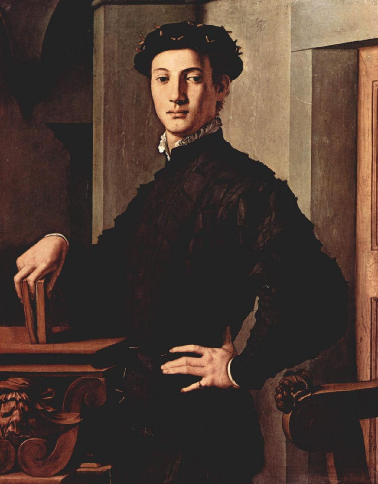Аньоло Бронзино. Портрет молодого человека с книгой