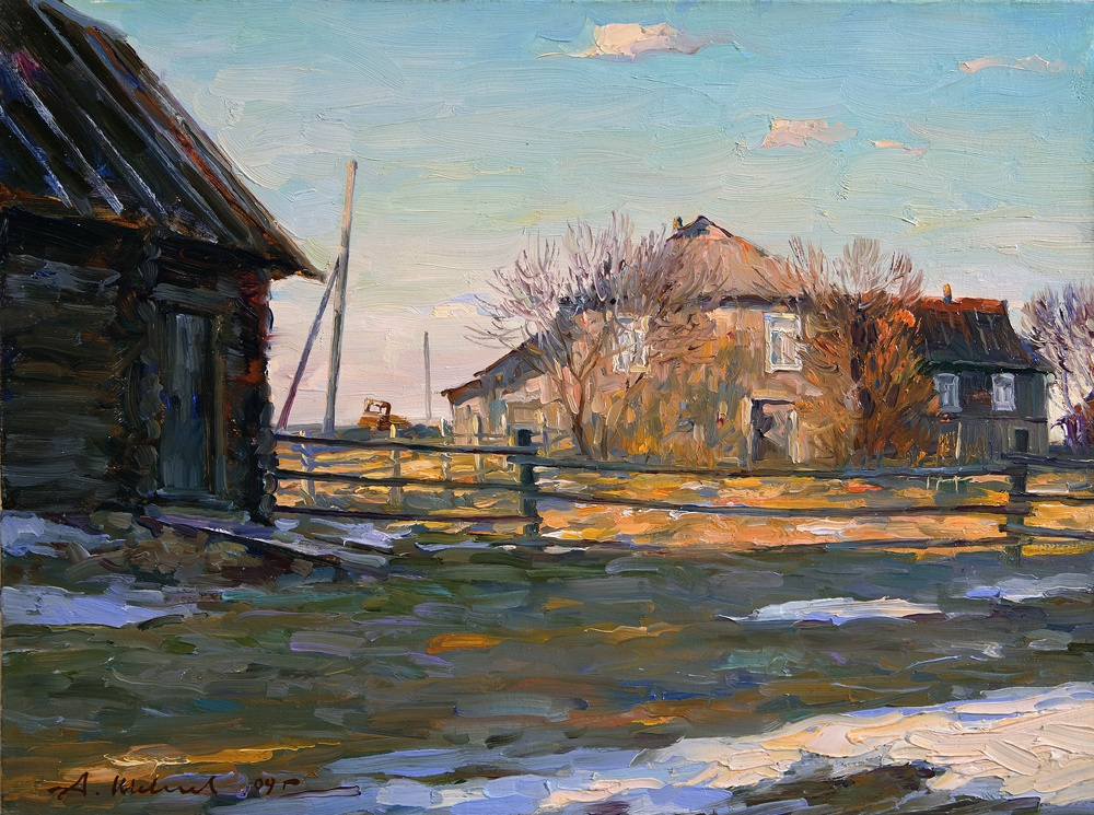 Alexander Victorovich Shevelyov. Bath. Oil on canvas 30 5 x 40, 5 cm, 2009