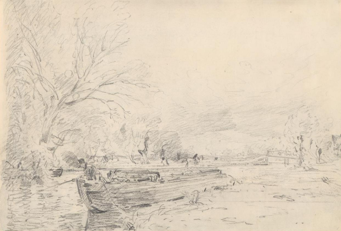 John Constable. Barge on the river Stour