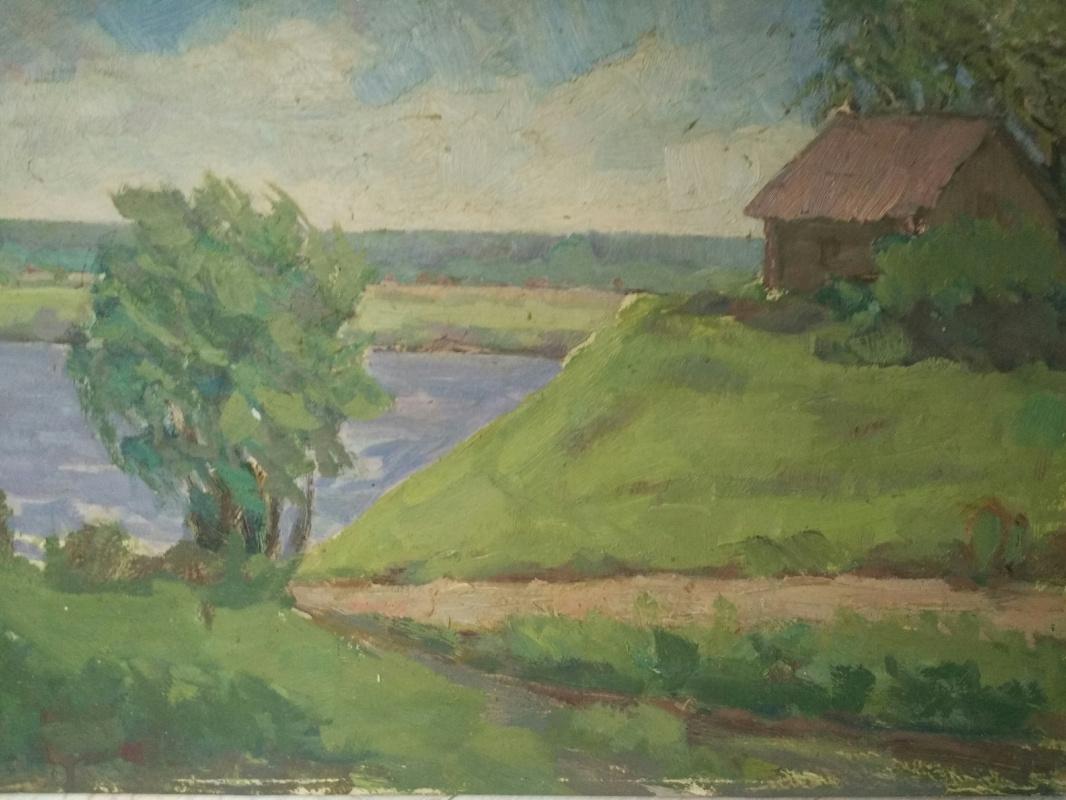 Aron Il'ich Ryvkin. By the lake
