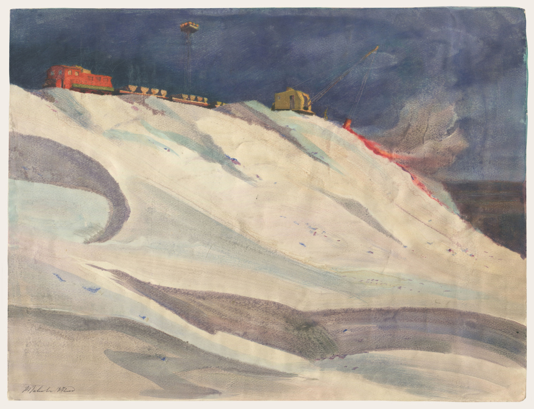 Alexandrovich Rudolf Pavlov. Excavator on a fire dump. ChMZ.