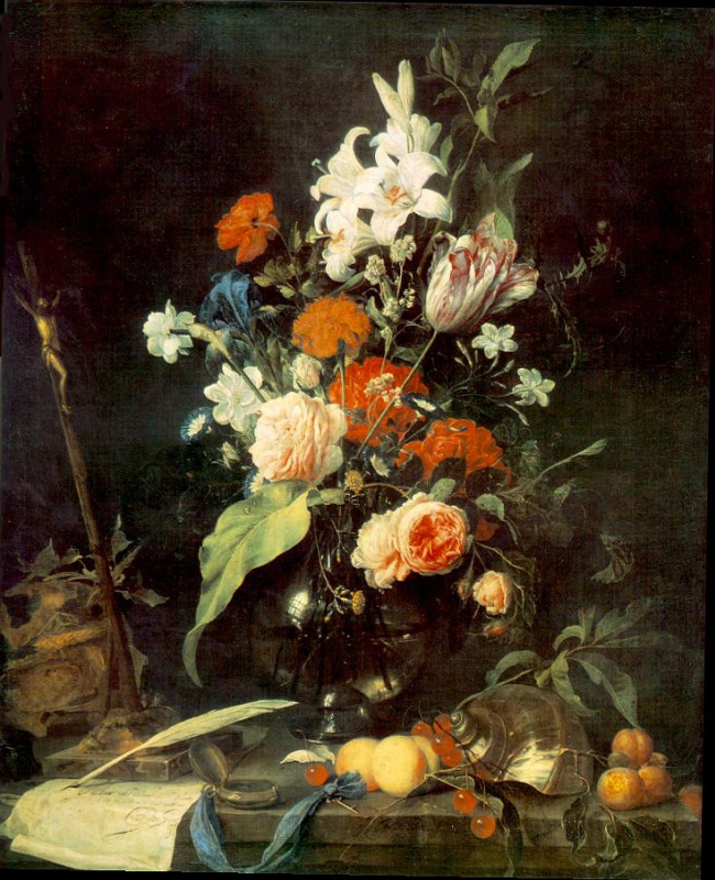 Jan Davids de Hem. Flowers