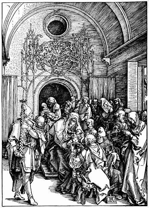 Альбрехт Дюрер. Обрезание младенца Христа