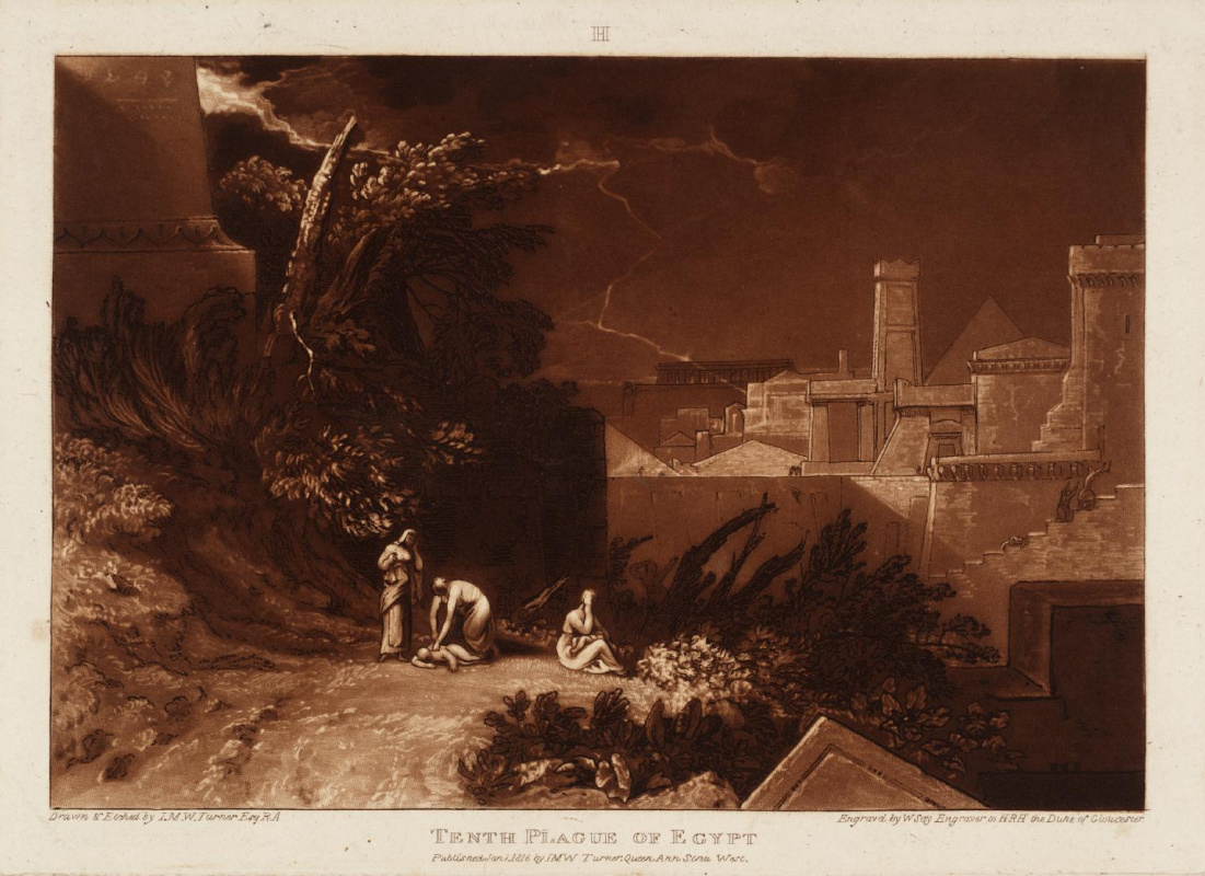 Joseph Mallord William Turner. The tenth plague of Egypt