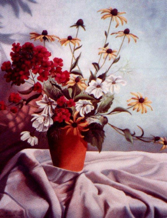 Лис Парадис. Ваза с цветами
