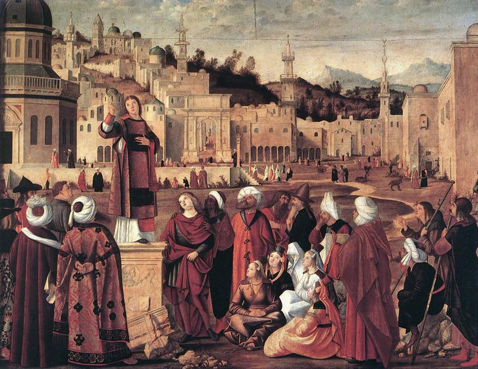 Vittore Carpaccio. The Sermon Of St Stephen